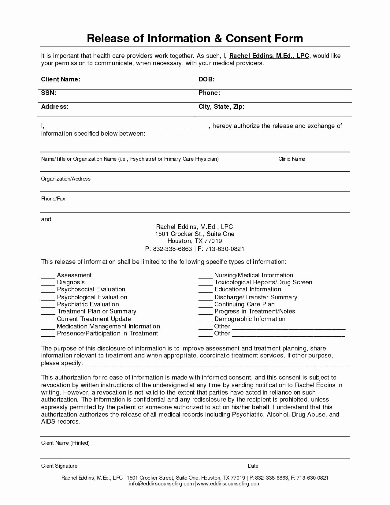 Release Of Information Template Awesome Release Information form Template