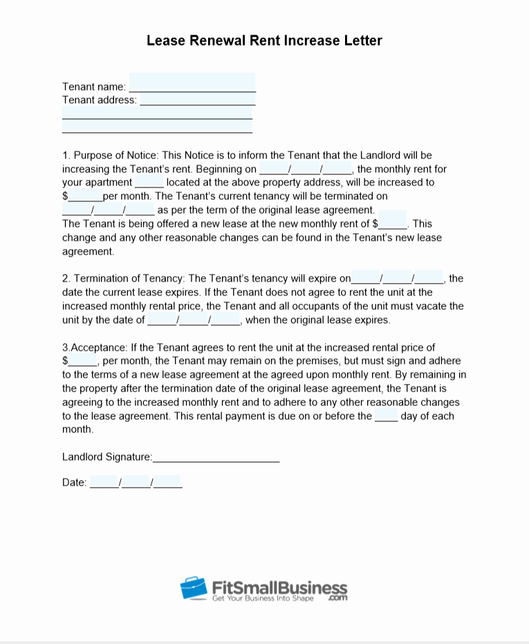 Rent Increase Letter Template Best Of Sample Rent Increase Letter [ Free Templates]