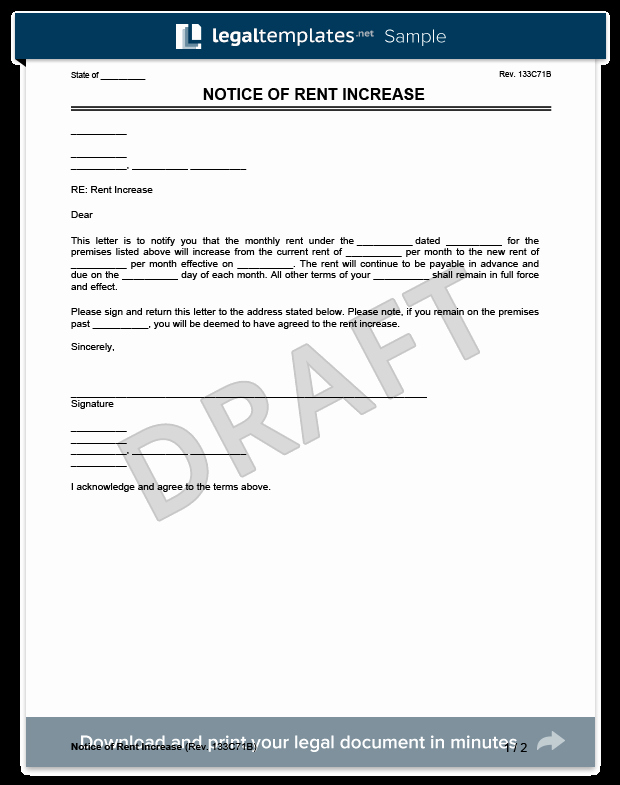 Rent Increase Letter Template Inspirational Create A Rent Increase Notice In Minutes