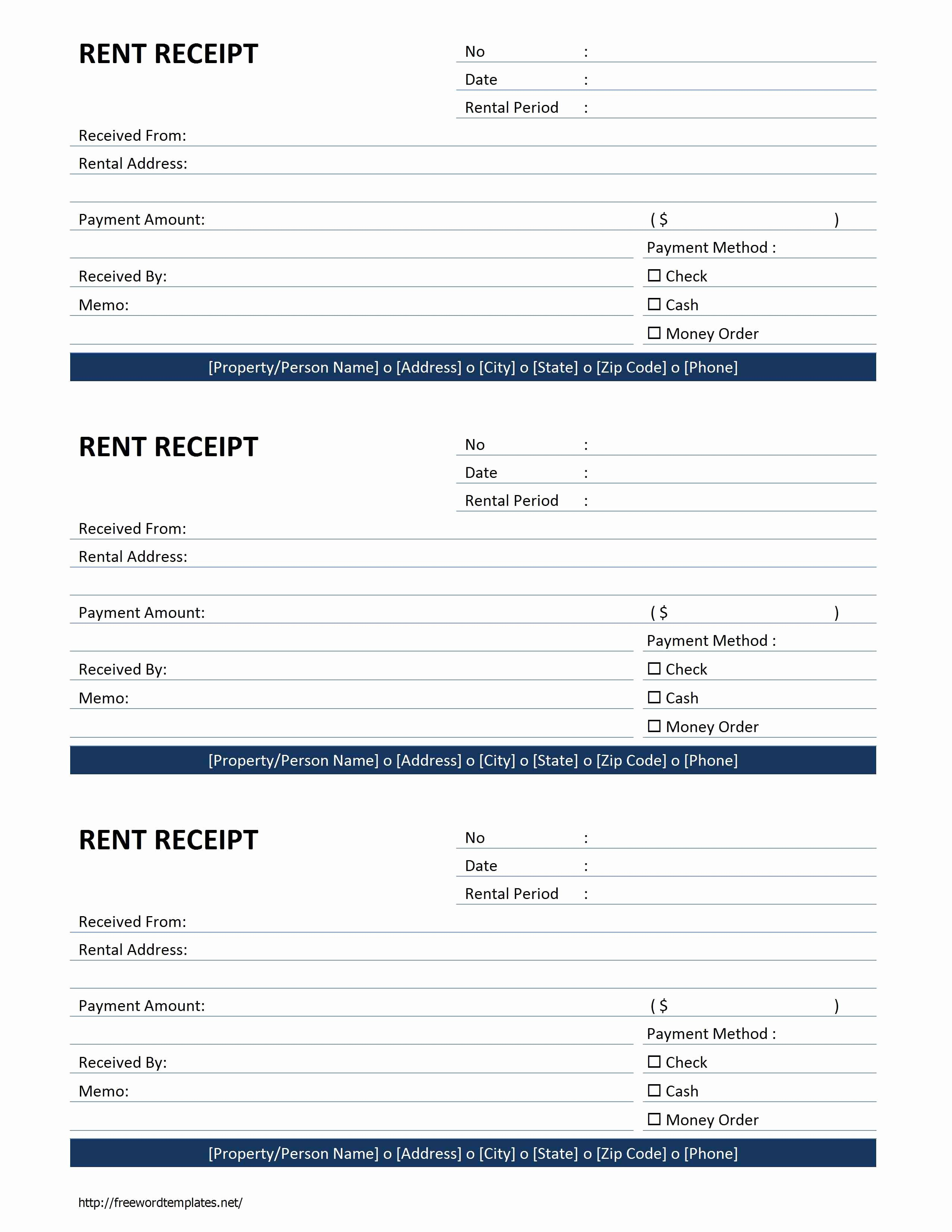 Rent Receipt Template Word Awesome Rent Receipt Template