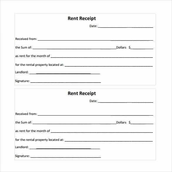 Rent Receipt Template Word Best Of Rent Receipt Templates