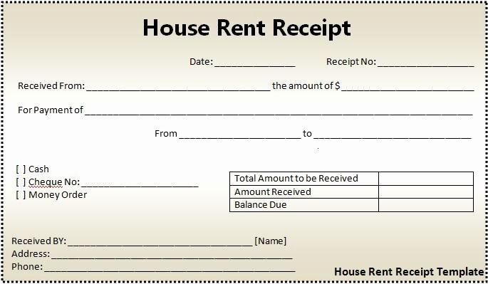 Rent Receipt Template Word Elegant 16 House Rent Receipt format