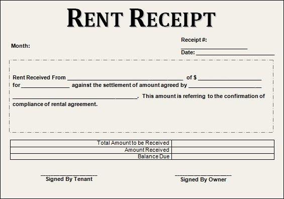 Rent Receipt Template Word Fresh 12 House Rent Receipt formats