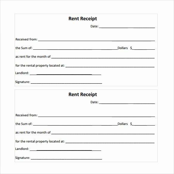 Rent Receipt Template Word Lovely Free 21 Rent Receipt Templates In Google Docs