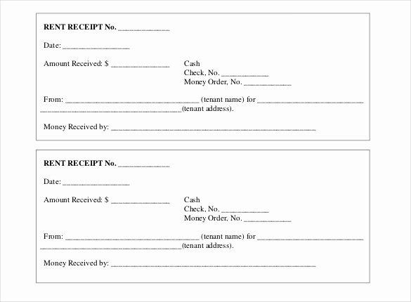 Rent Receipt Template Word Lovely Printable Renters Receipt