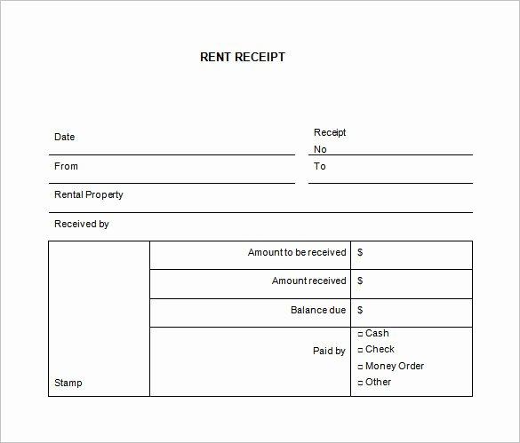 Rent Receipt Template Word Unique 35 Rental Receipt Templates Doc Pdf Excel