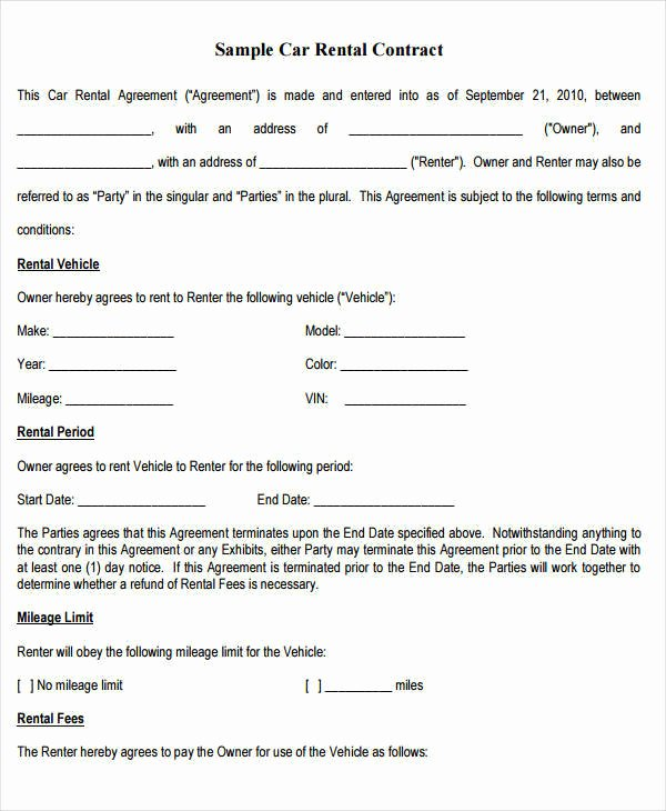 Rent to Own Contract Template Lovely 9 Rent to Own Contract Samples & Templates Pdf Google