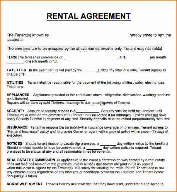 Rent to Own Contract Templates Unique Rent to Own Lease Agreement