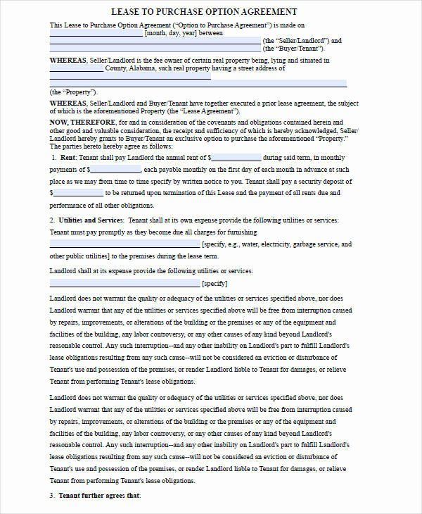 Rent to Own Contracts Templates Awesome 5 Rent to Own House Contract Samples & Templates Pdf