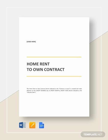 Rent to Own Contracts Templates Beautiful Rent to Own Contract Template 9 Free Word Excel Pdf