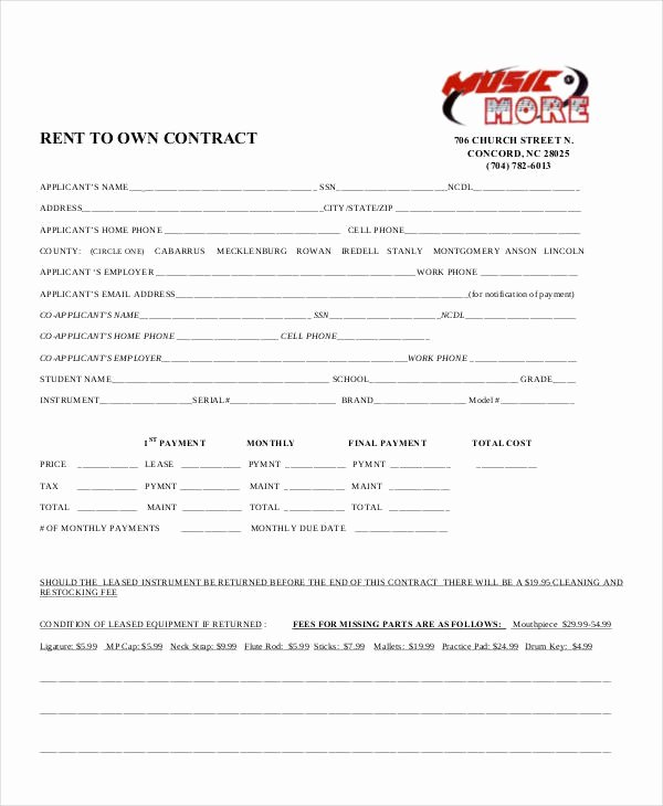 Rent to Own Contracts Templates New 8 Rent to Own Contract Samples & Templates Pdf Google Docs