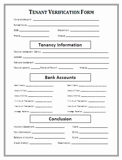 Rental Verification form Template Awesome Rental Verification form Printable Agreement