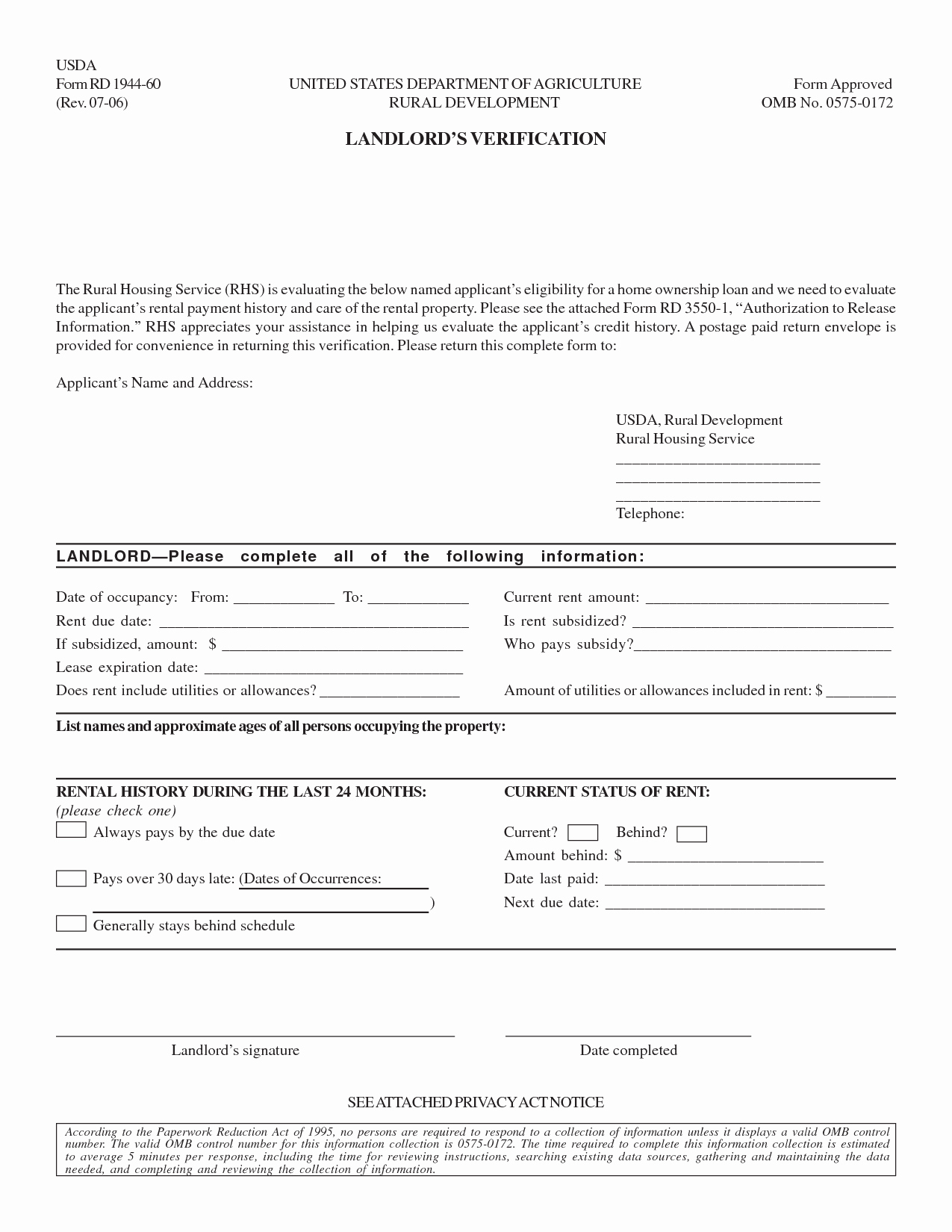 Rental Verification form Template Beautiful Best S Of Landlord Verification form Free Rental