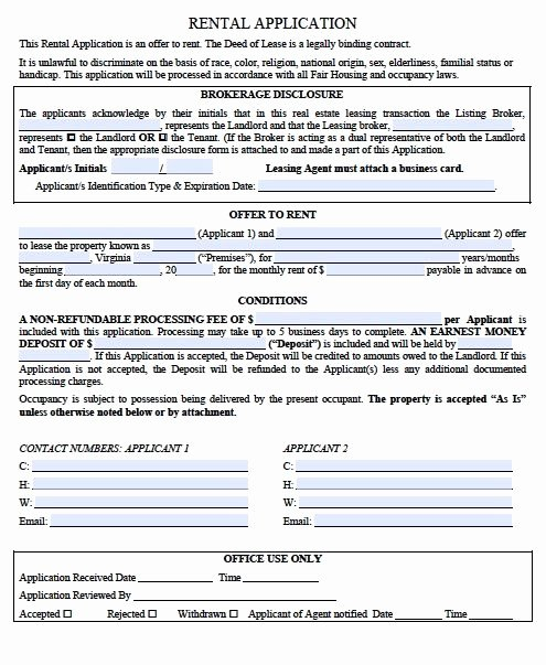 Rental Verification form Template Elegant Printable Sample Rental Verification form form