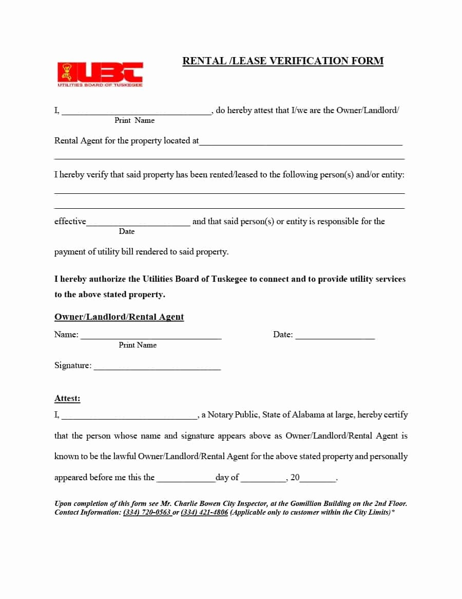 Rental Verification form Template Luxury 29 Rental Verification forms for Landlord or Tenant