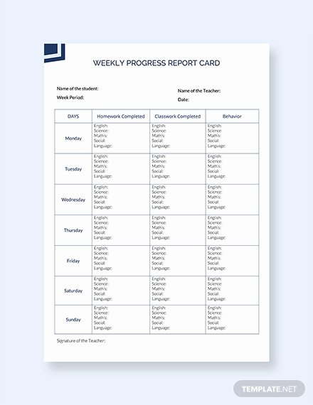 Report Card Template Word Beautiful 39 Free Report Card Templates Pdf Word Excel