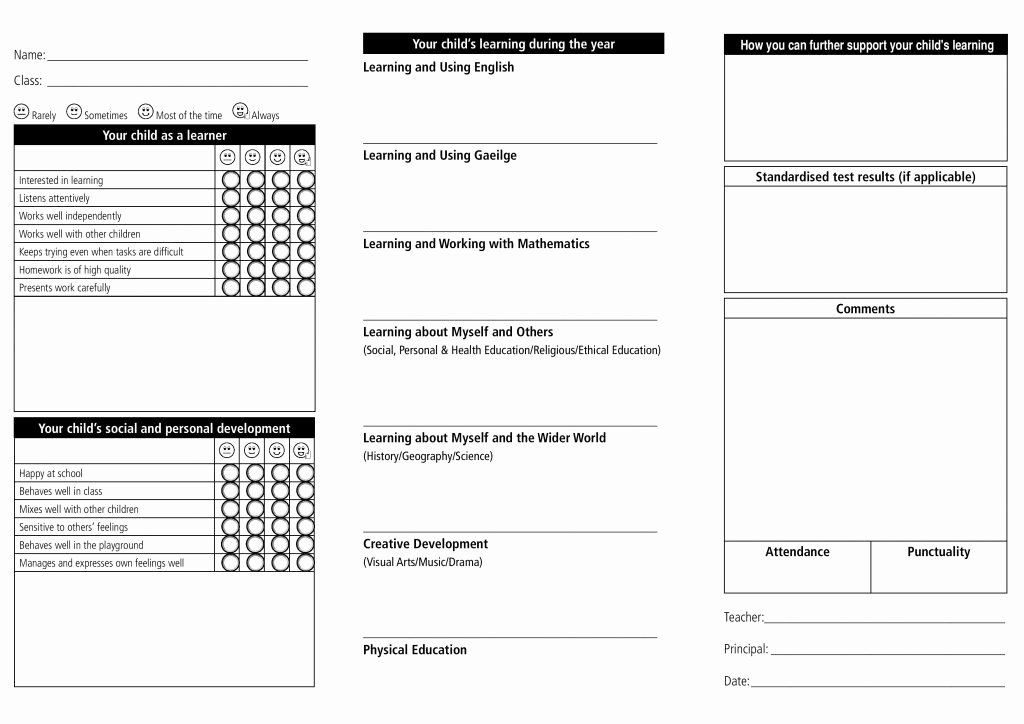 Report Card Template Word Beautiful Report Card Template 33 Free Word Excel Documents