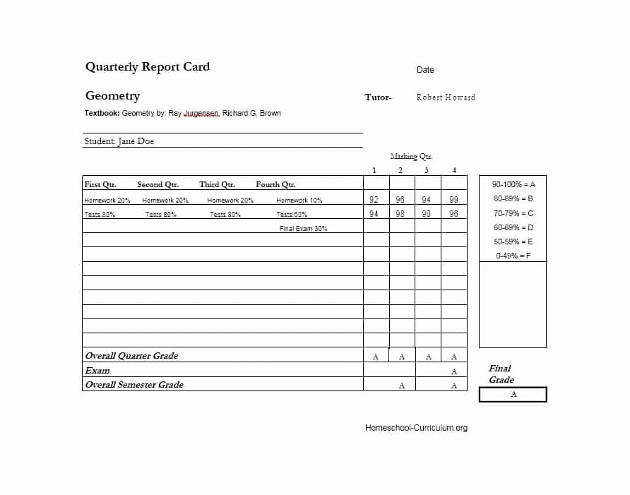 Report Card Template Word Elegant 30 Real & Fake Report Card Templates [homeschool High