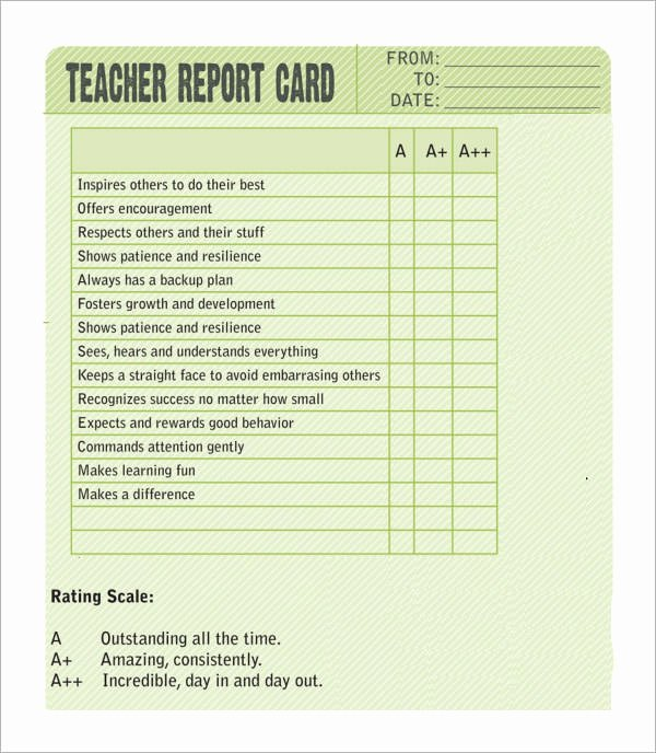 Report Card Template Word Elegant Sample Report Card Template 11 Download Documents In