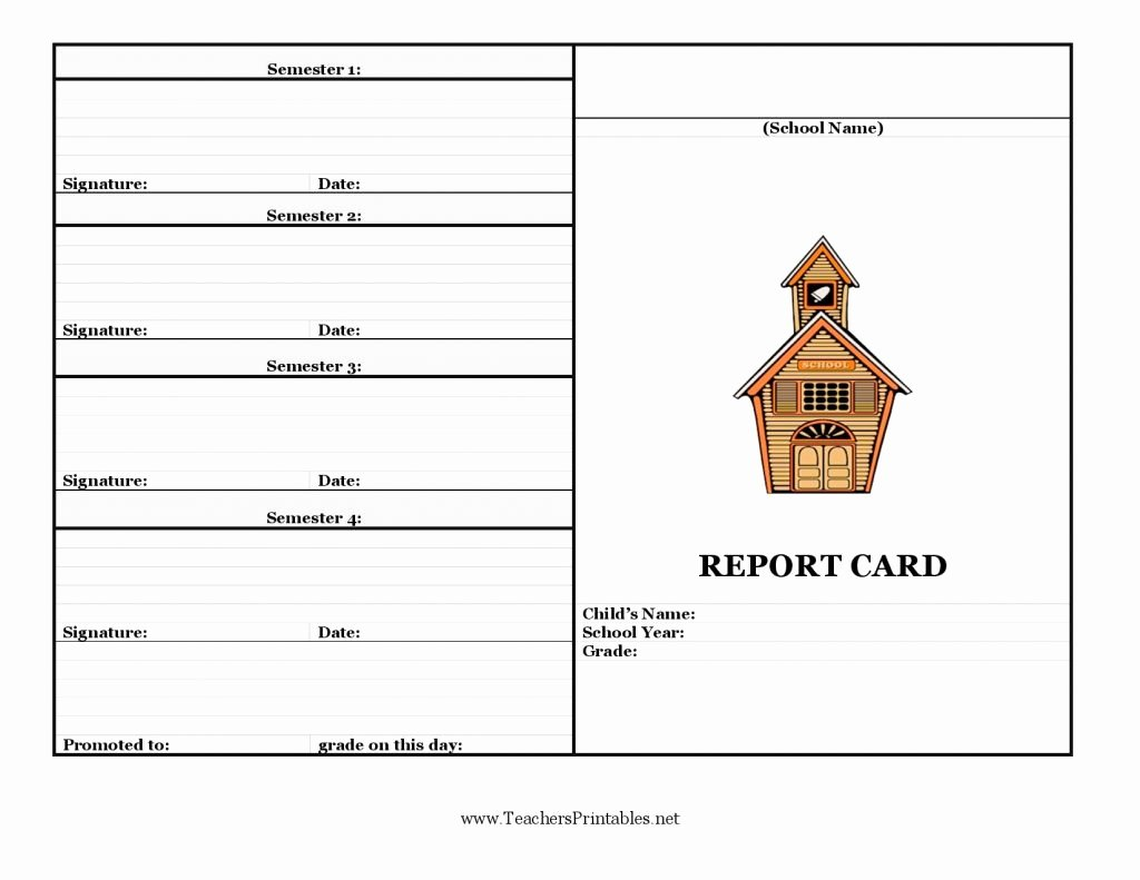 Report Card Template Word Inspirational Report Card Template 33 Free Word Excel Documents