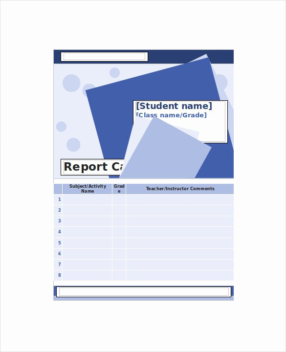 Report Card Template Word Lovely Homeschool Report Card Template 6 Download Documents In