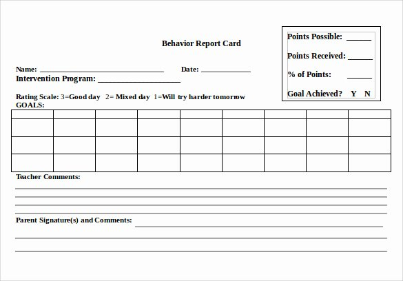 Report Card Template Word Luxury 14 Progress Report Card Templates Docs Word Pdf Pages