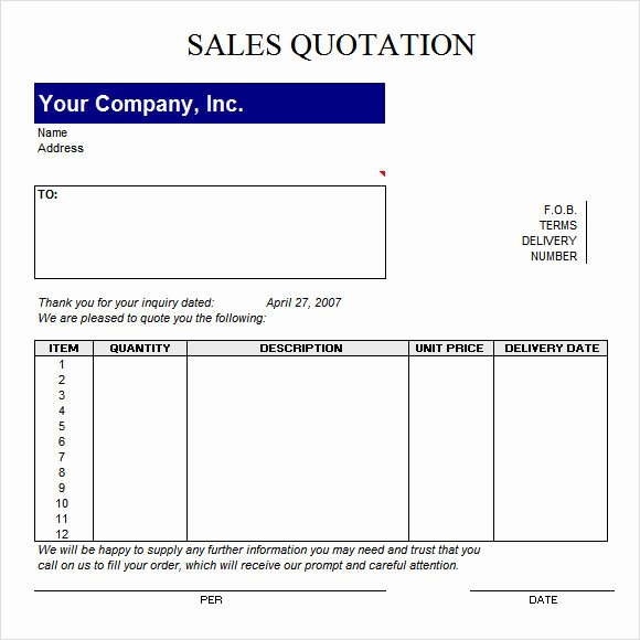 Request for Quote Template Excel Awesome Free 52 Quotation Templates In Google Docs