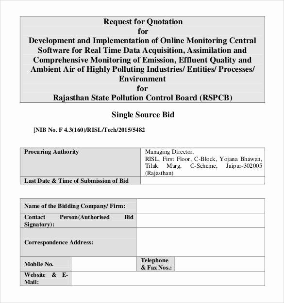 Request for Quote Template Excel Beautiful Free 52 Quotation Templates In Google Docs