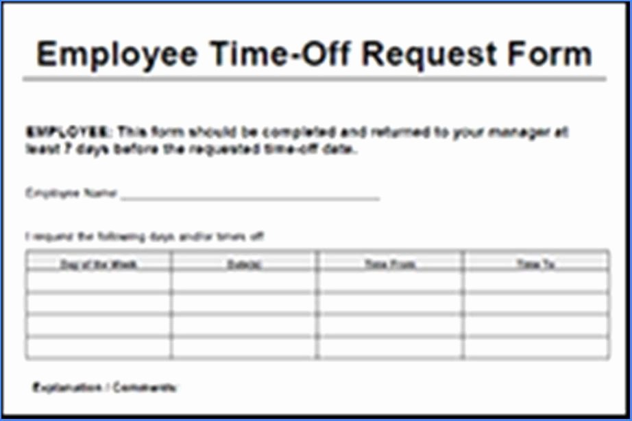 Request Time Off Template Awesome Time F Request form Template Word 1506