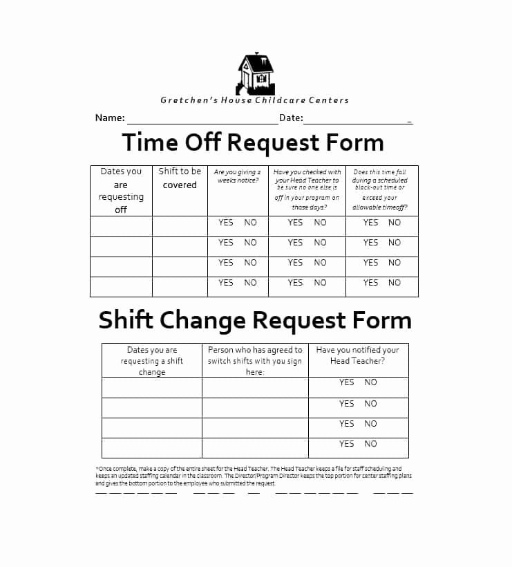 Request Time Off Template Inspirational Shift Trade Request form Template the Seven Reasons Grad