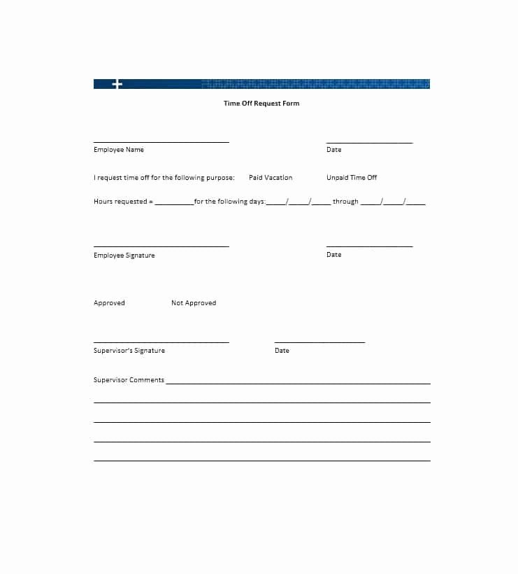 Request Time Off Template Lovely 40 Effective Time F Request forms & Templates