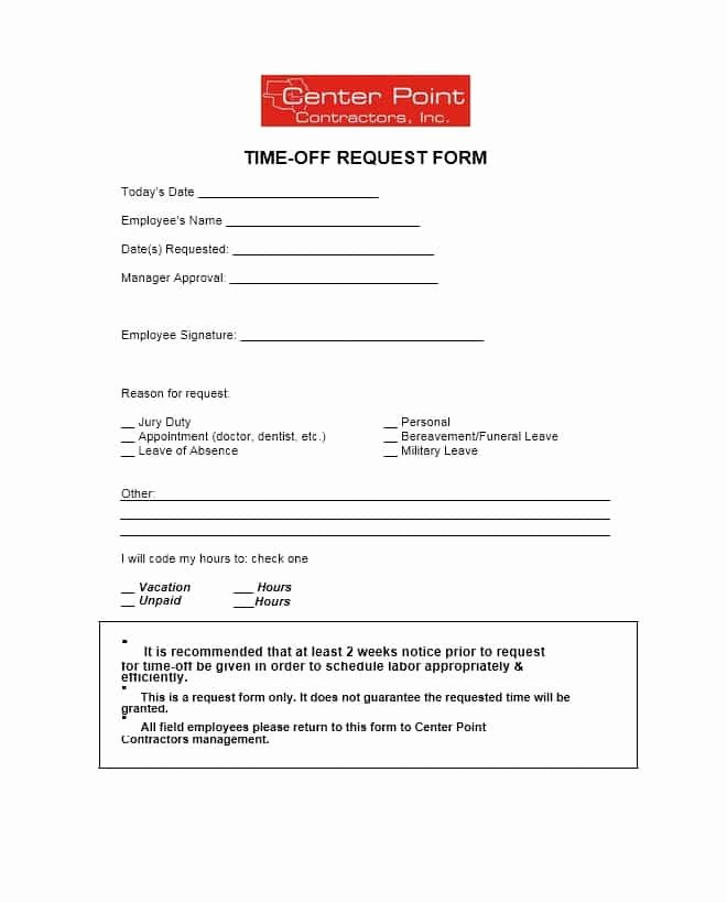 Request Time Off Template Luxury 40 Effective Time F Request forms & Templates