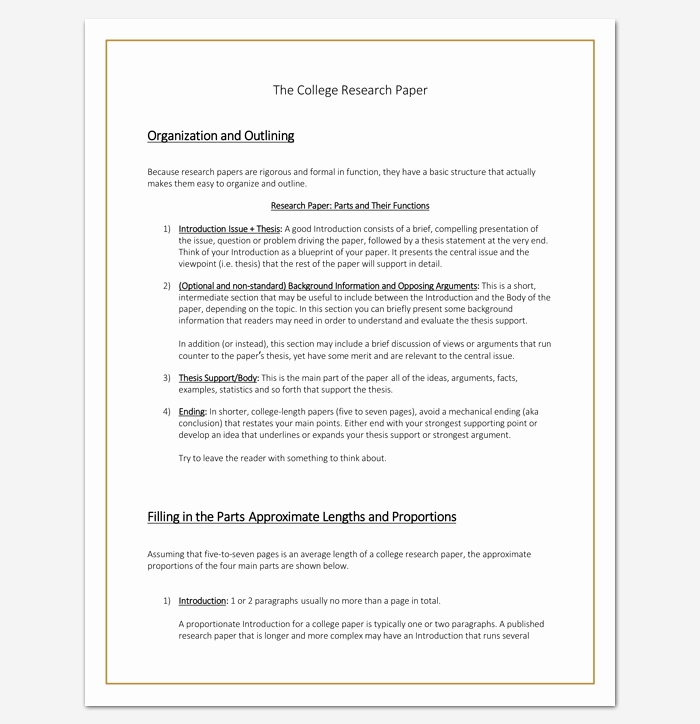 Research Paper Outline Templates Fresh Research Paper Outline Template 36 Examples formats