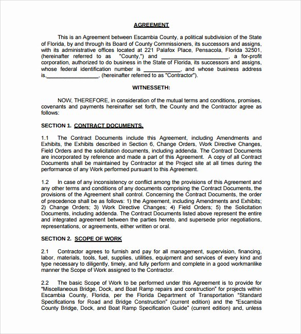 Residential Construction Contract Template Free Unique 8 Construction Contract Template Considering Basic