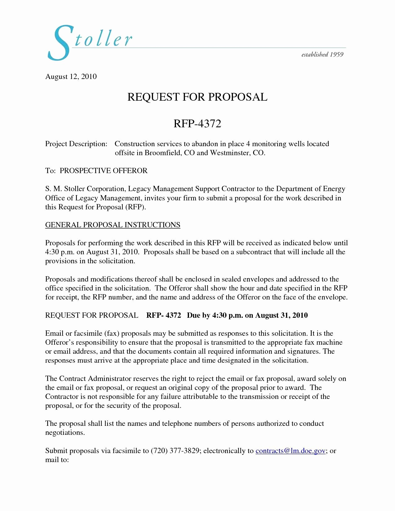 Response to Rfp Template Beautiful 14 15 Cover Letter for Rfp Response