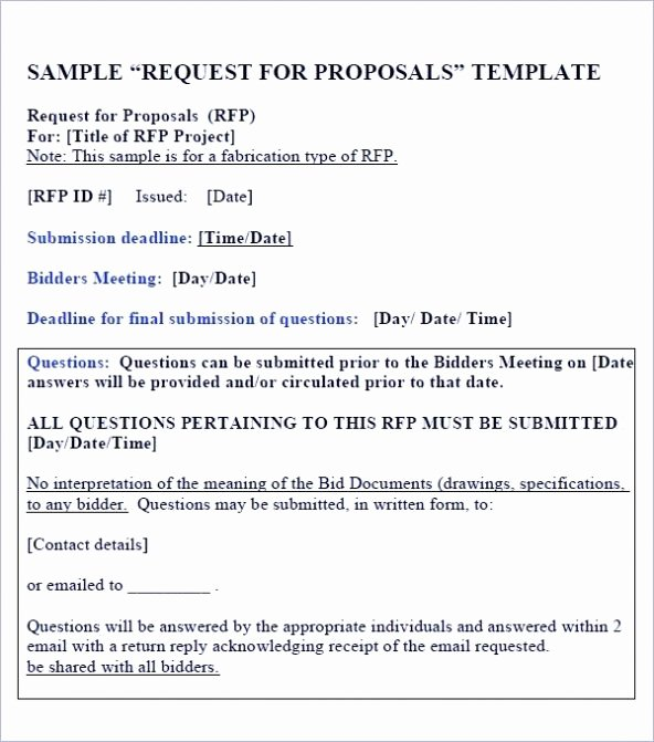 Response to Rfp Template Fresh Sample Rfp Response Template Information Technology Example