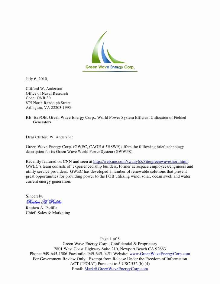 Response to Rfp Template Lovely Green Wave Mobile Power System Rfp Response
