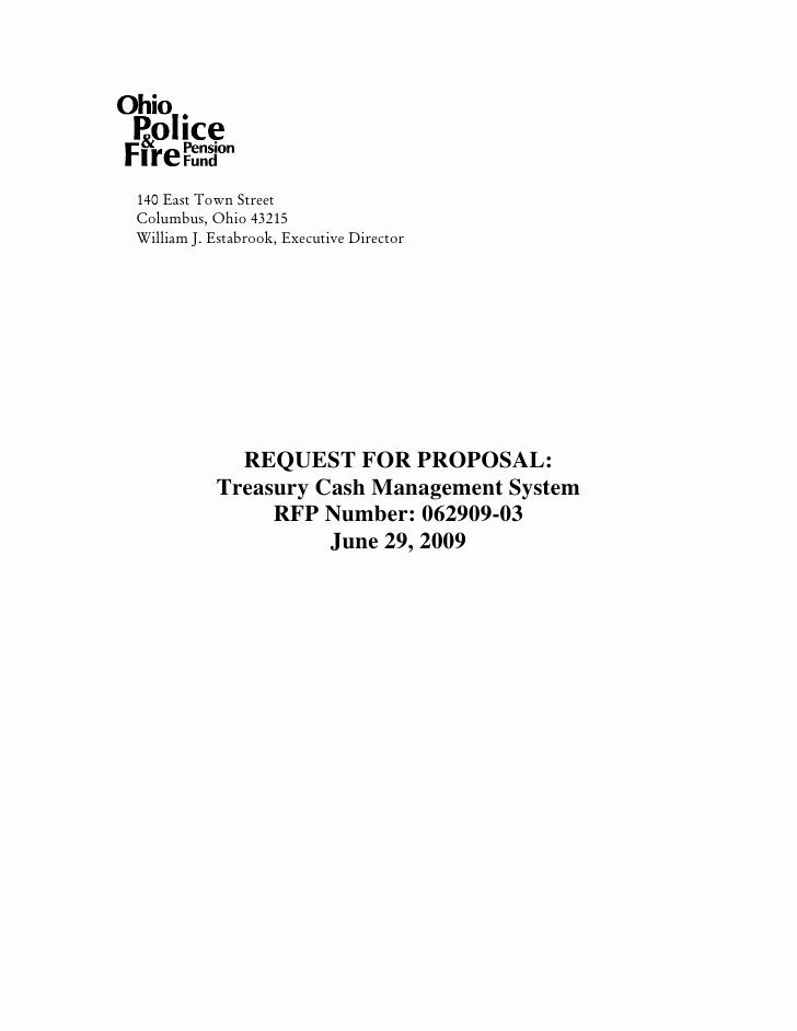 Response to Rfp Template Lovely Request for Proposal Treasury Cash Management System Rfp