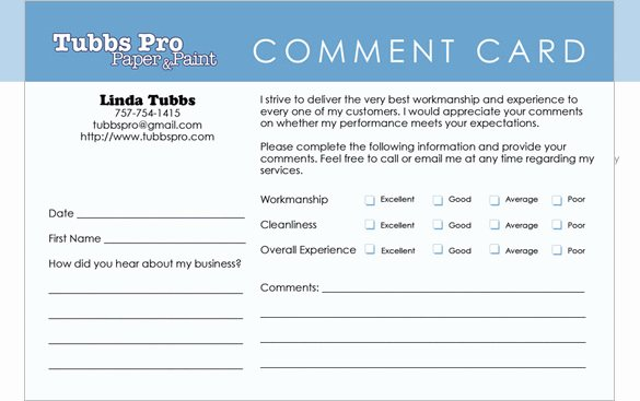 Restaurant Comment Card Template Elegant Templates for Ment Cards Video Search Engine at