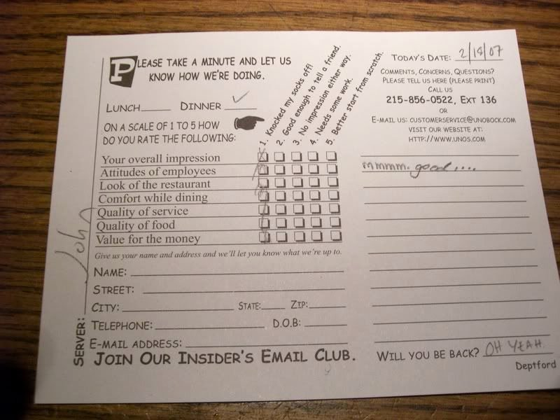 Restaurant Comment Card Template Fresh Related to Restaurant Ment Card