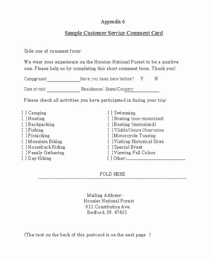 Restaurant Comment Card Template Unique 9 Restaurant Ment Card Templates Free Sample Templates