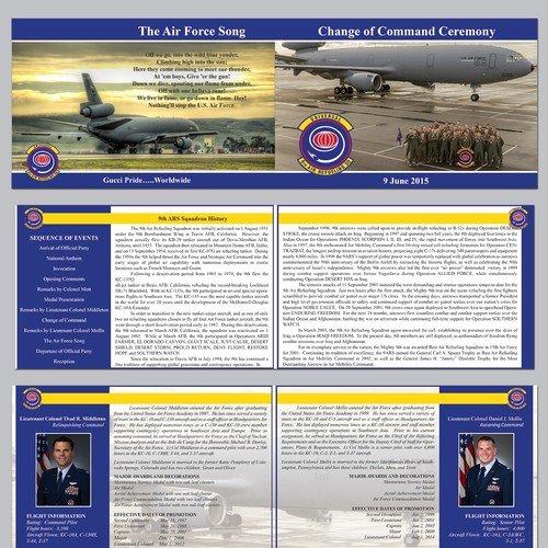 Retirement Ceremony Program Templates Awesome Brochure Program for Us Air force Retirement Ceremony