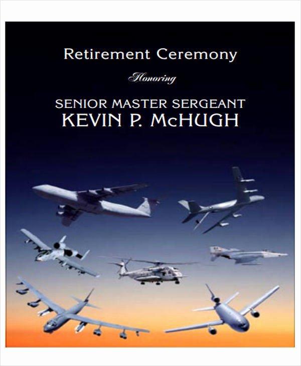 Retirement Ceremony Program Templates Elegant 7 Retirement Program Samples & Templates In Pdf
