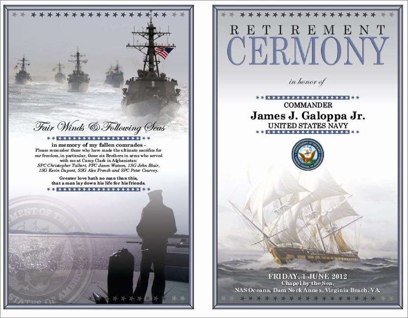 Retirement Ceremony Program Templates Elegant Anchors Away Memorial Day