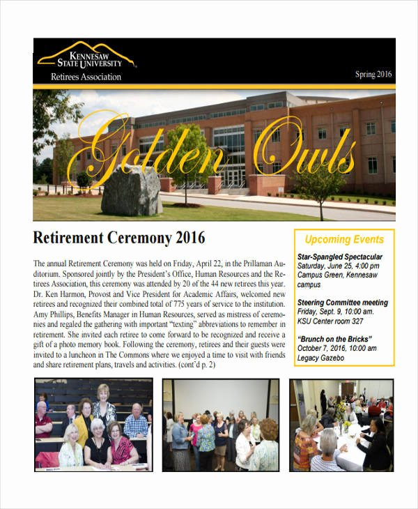 Retirement Ceremony Program Templates Inspirational 6 Retirement Program Templates Examples In Word Pdf
