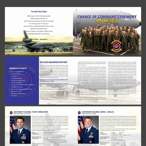 Retirement Ceremony Program Templates Inspirational Brochure Program for Us Air force Retirement Ceremony