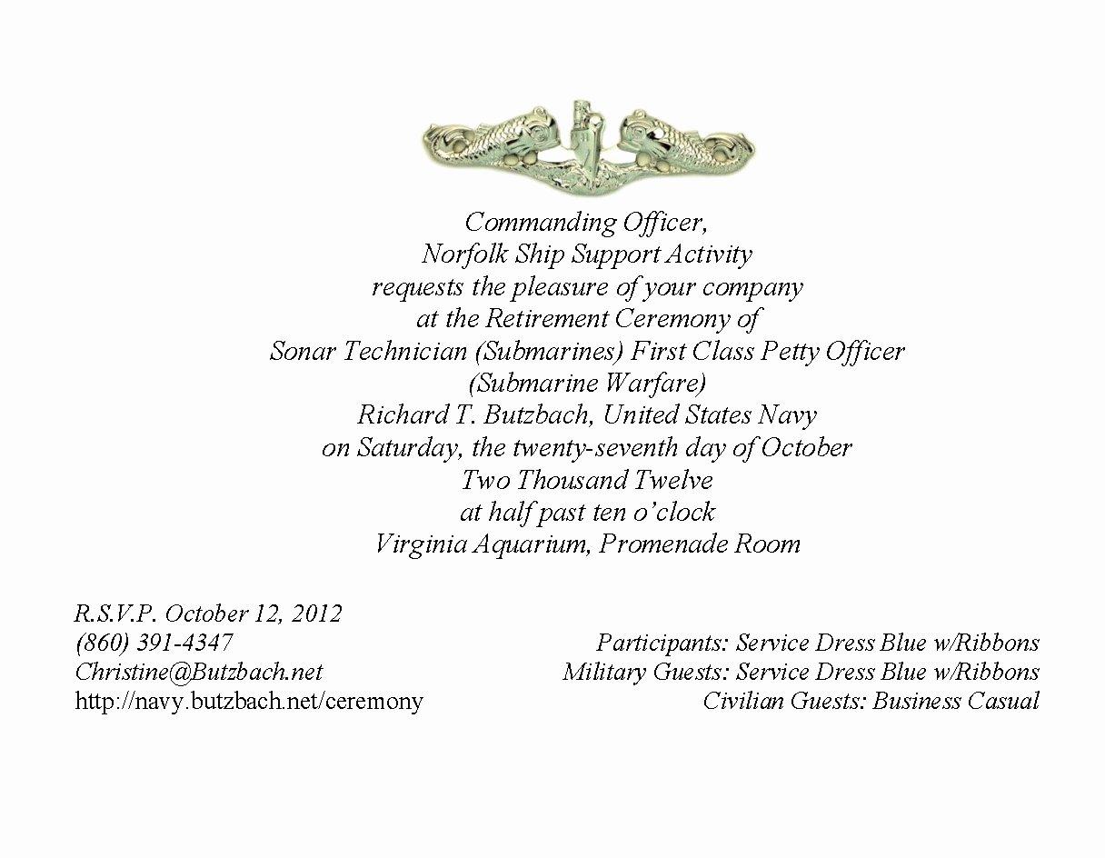 Retirement Ceremony Program Templates Lovely Military Retirement Ceremony Invitations