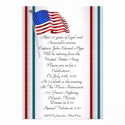 Retirement Ceremony Program Templates New Military Retirement Party Invitation