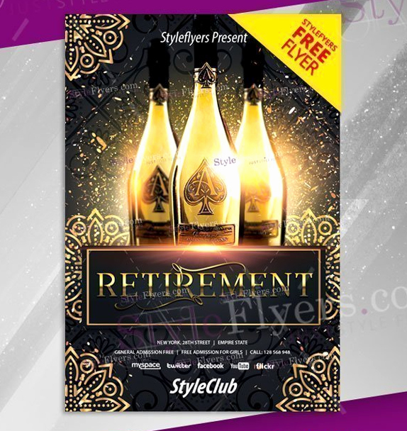 Retirement Party Flyer Template Free Best Of 15 Retirement Party Invitation & Flyer Templates Xdesigns