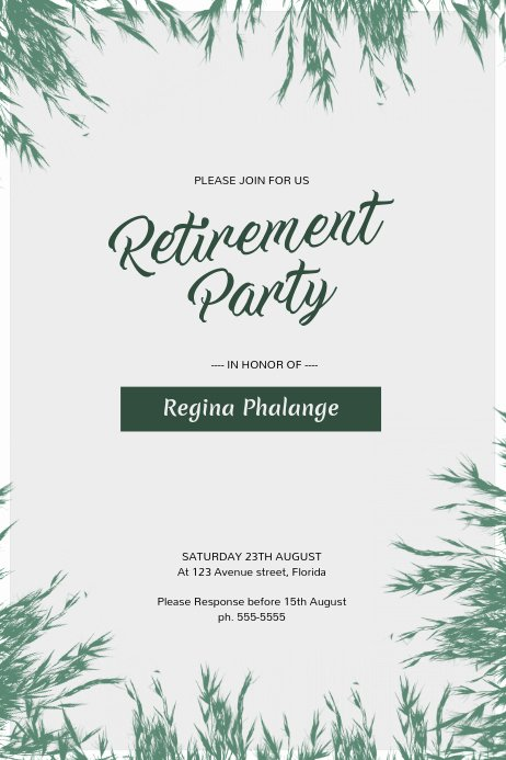 Retirement Party Flyer Template Free Best Of Retirement Party Flyer Template